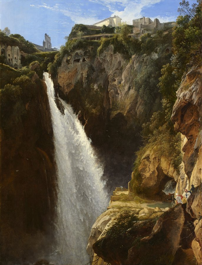 Johann Martin von Rohden (1778–1868), The cascade of Tivoli, 1825