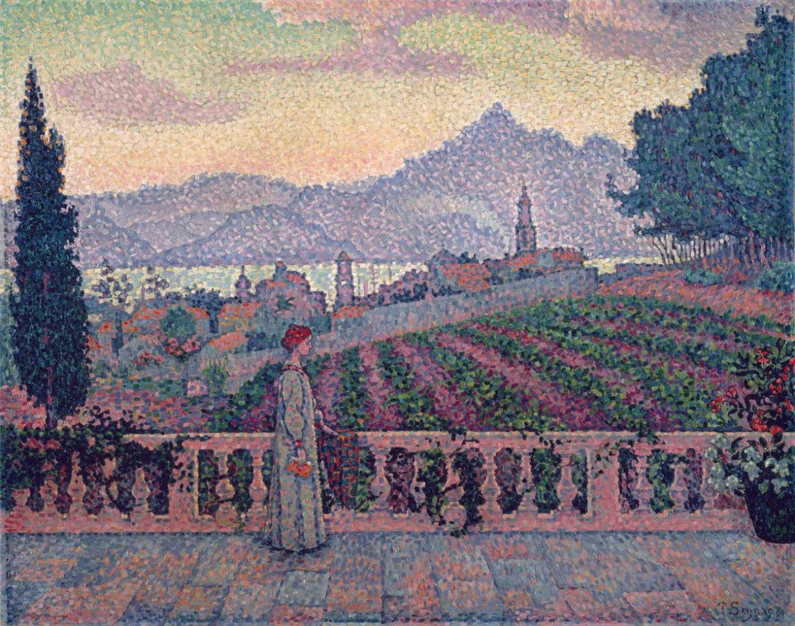 Paul Signac, Frau auf der Terrasse, 1898