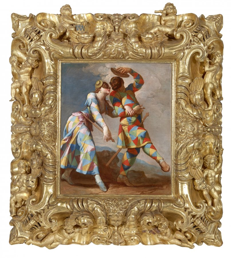 Giovanni Domenico Ferretti (1692–1768), Harlekin and Colombina, 18th century © Haukohl Family Collection