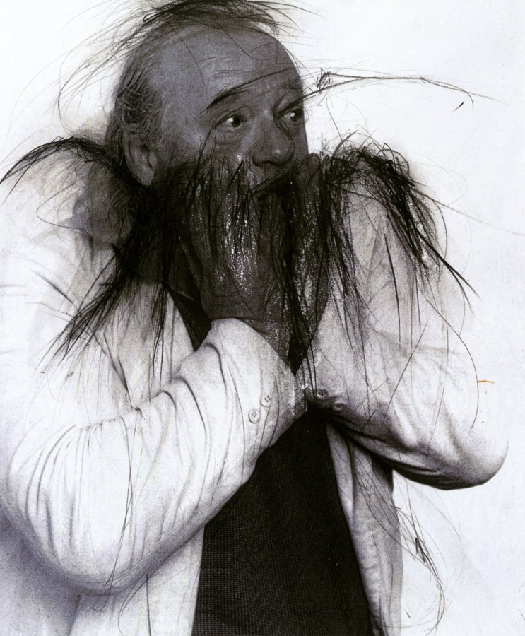 Arnulf Rainer, Ulrich Wildgruber, 1997/98, photo: Christina Vollmert © and photo: Theaterwissenschaftliche Sammlung, Universität zu Köln