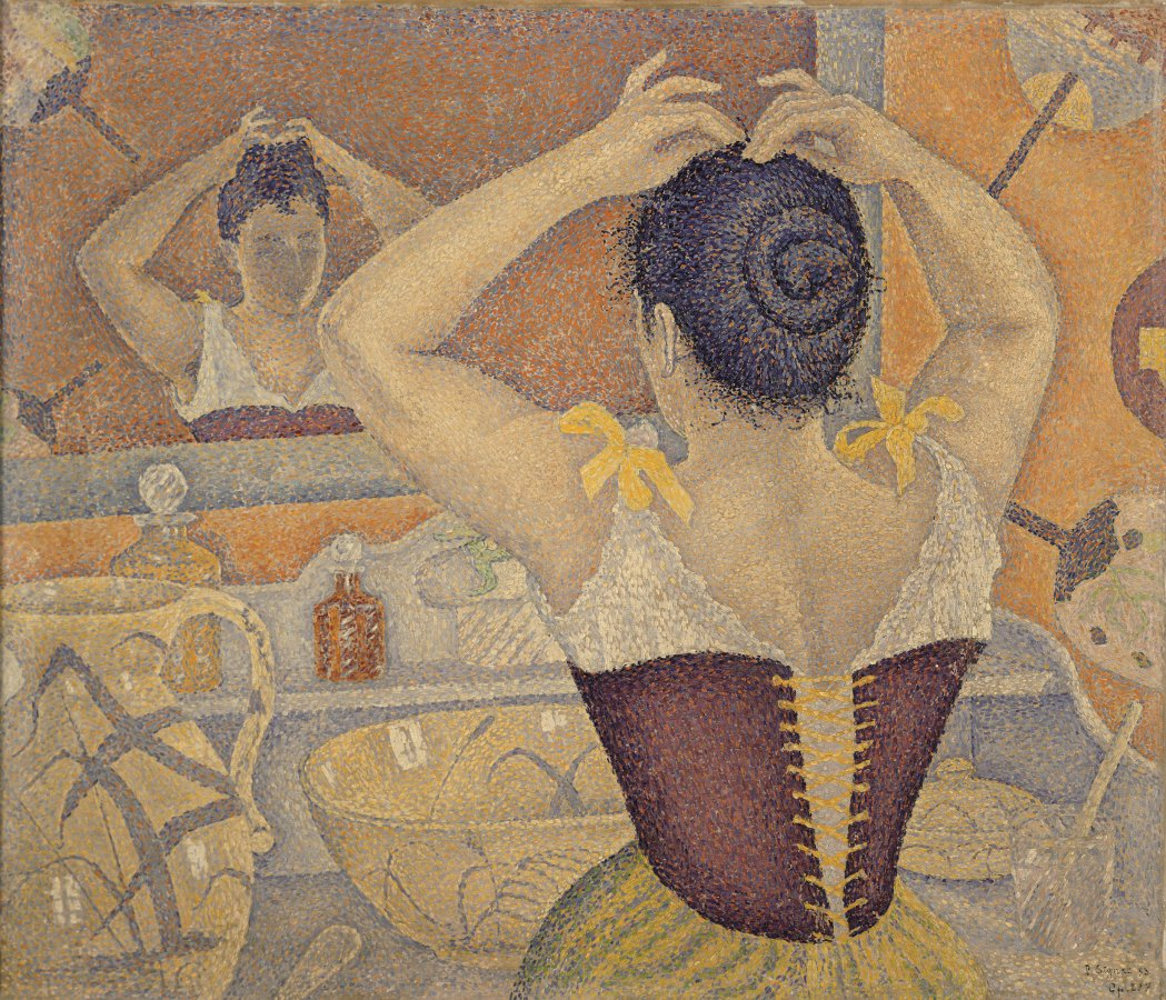 Paul Signac, Hairdressing scene. Opus 227 (Project for a washroom), 1892, private collection © All Rights reserved