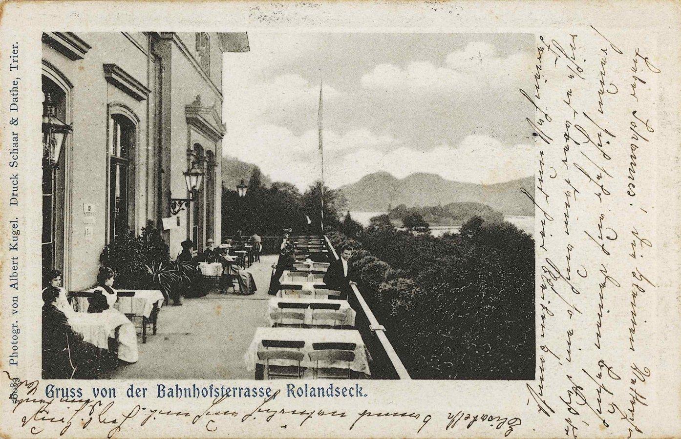 Historic postcard of the Bahnhof Rolandseck © Arp Museum Bahnhof Rolandseck