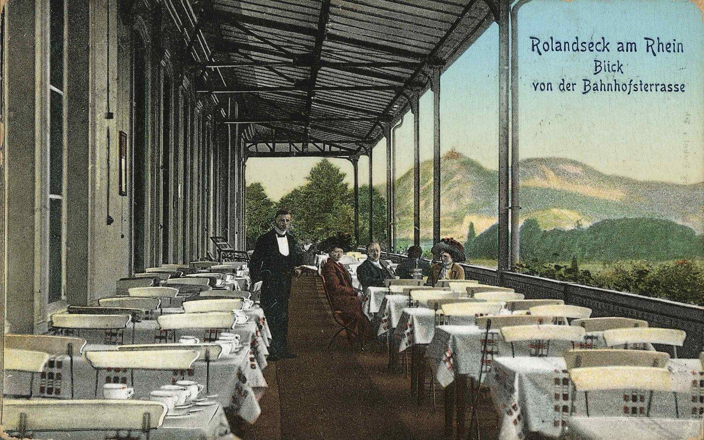 Historische Postkarte des Bahnhofs Rolandseck © Arp Museum Bahnhof Rolandseck