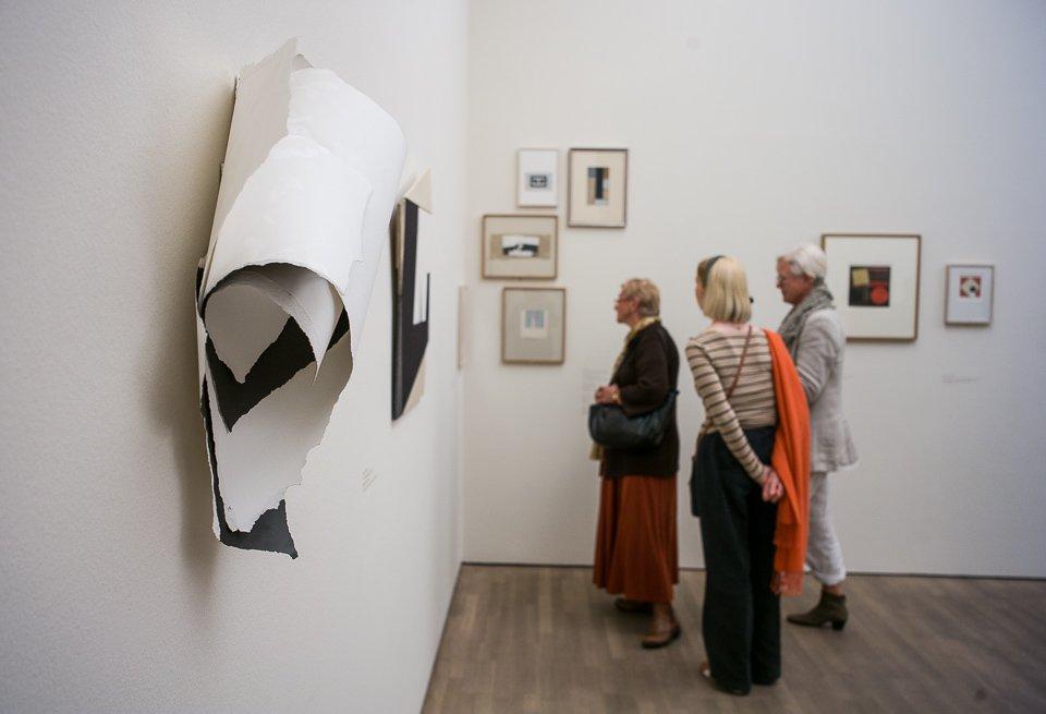 Exhibition View »Collagen. Die Sammlung Meerwein. 1. Ausschnitt«, 2015 © Arp Museum Bahnhof Rolandseck, photo: Herbert Piel