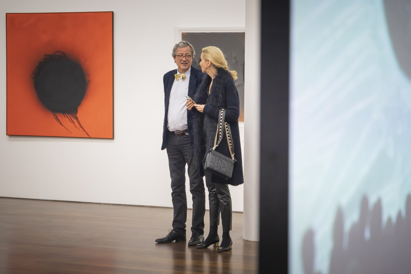 GFF-Mitglieder bei der Preview zur Ausstellung »Otto Piene. Alchemist und Himmelsstürmer« © Foto: Helmut Reinelt