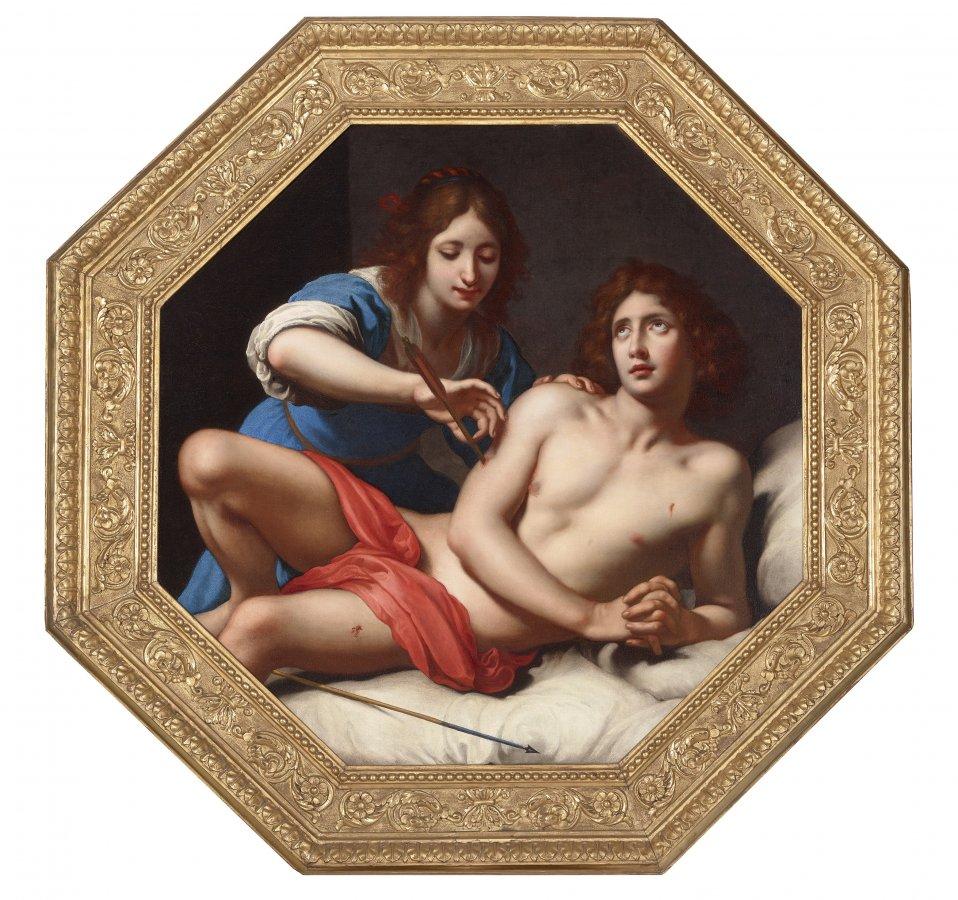 Felice Ficherelli (1605–1660), Der Hl. Sebastian, versucht durch die Hl. Irene, 17. Jh. © Haukohl Family Collection, Foto: Tom Lucas/ MNHA Luxembourg