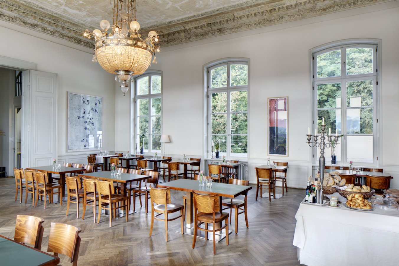 The restaurant Bistro Interieur 253 in the historic banqueting hall © Photo: Mick Vincenz