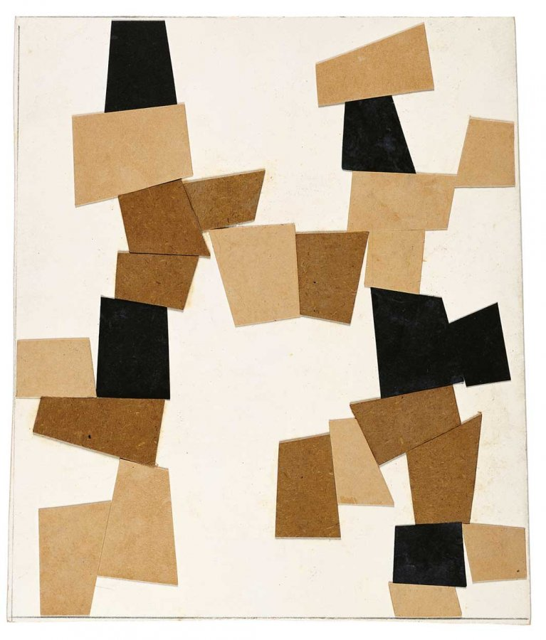 Hans Arp, Elementary Construction, 1916  © Collection Arp Museum Bahnhof Rolandseck, VG Bild-Kunst, Bonn 2016, Photo: Nic Tenwiggenhorn