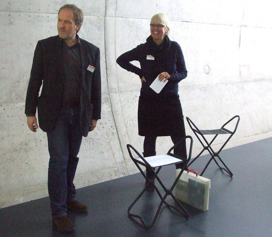 Die Kunsthistoriker Dr. Nicole Birnfeld und Olaf Mextorf © und Foto: Arp Museum Bahnhof Rolandseck