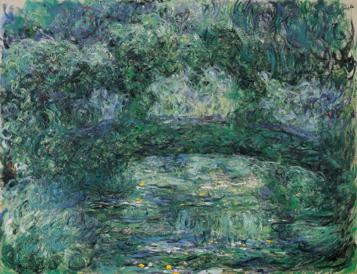 Claude Monet, Die japanische Brücke, um 1918–1924 © Fondation Beyeler