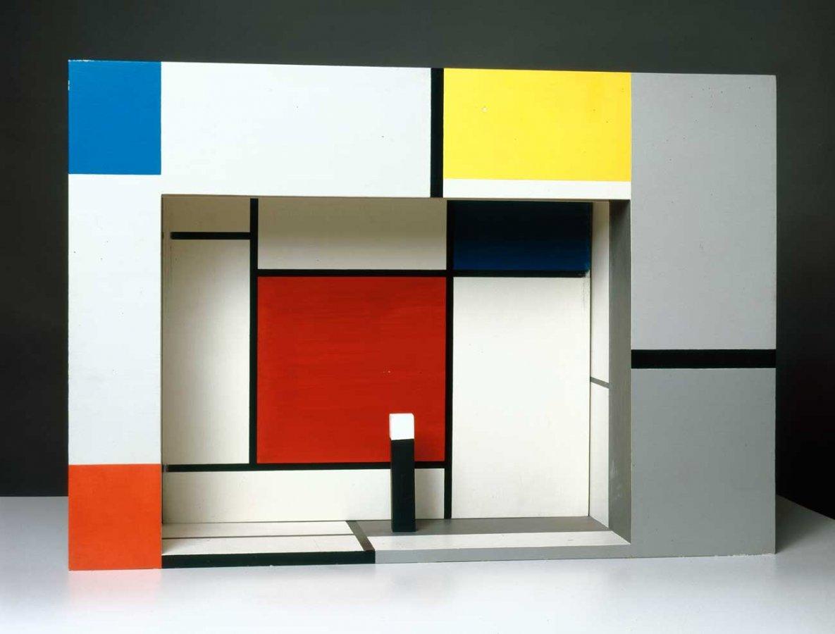 Piet Mondrian, Bühnenmodell für Michel Seuphors »L'Éphémère est éternel« (1926), Rekonstruktion 1964  © Collection Van Abbemuseum, Eindhoven, Foto: Peter Cox