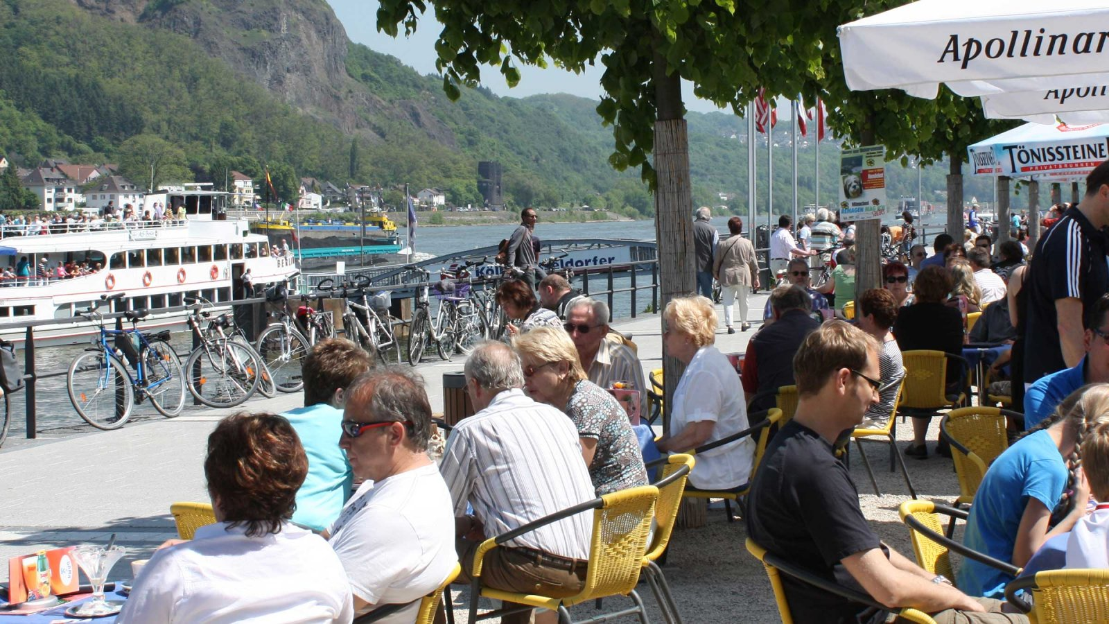 Die Rheinpromenade in Remagen © und Foto: Touristinformation Remagen
