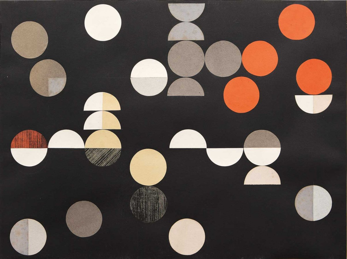 Sophie Taeuber-Arp, Komposition mit Kreisen und Halbkreisen, 1938 © Sammlung Arp Museum Bahnhof Rolandseck, Foto: Mick Vincenz