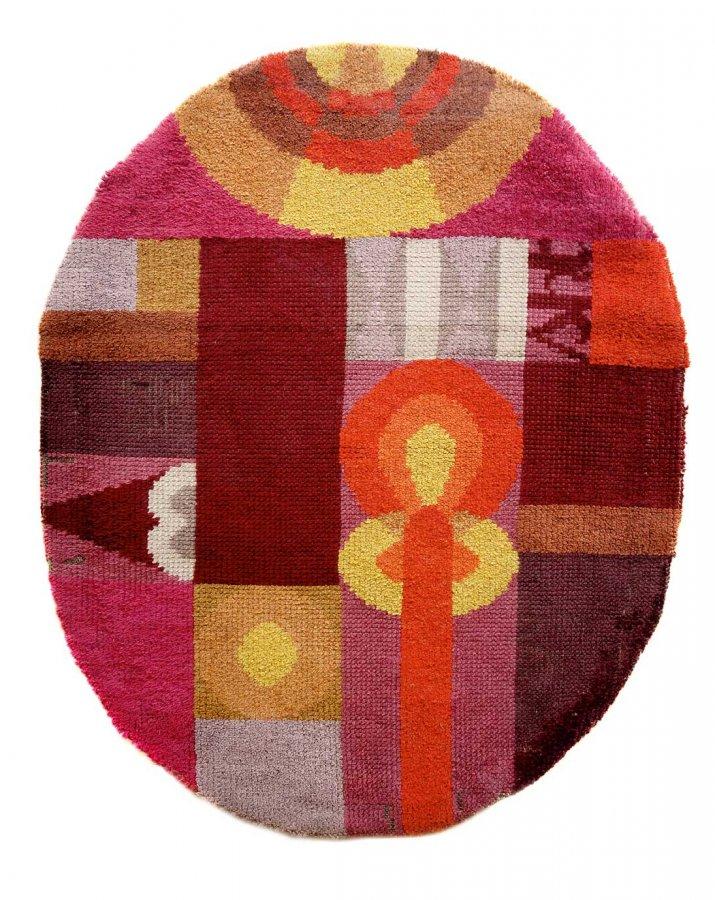 Sophie Taeuber-Arp, Ovale Komposition mit abstrakten Motiven, 1922 © Sammlung Arp Museum Bahnhof Rolandseck, Foto: Mick Vincenz