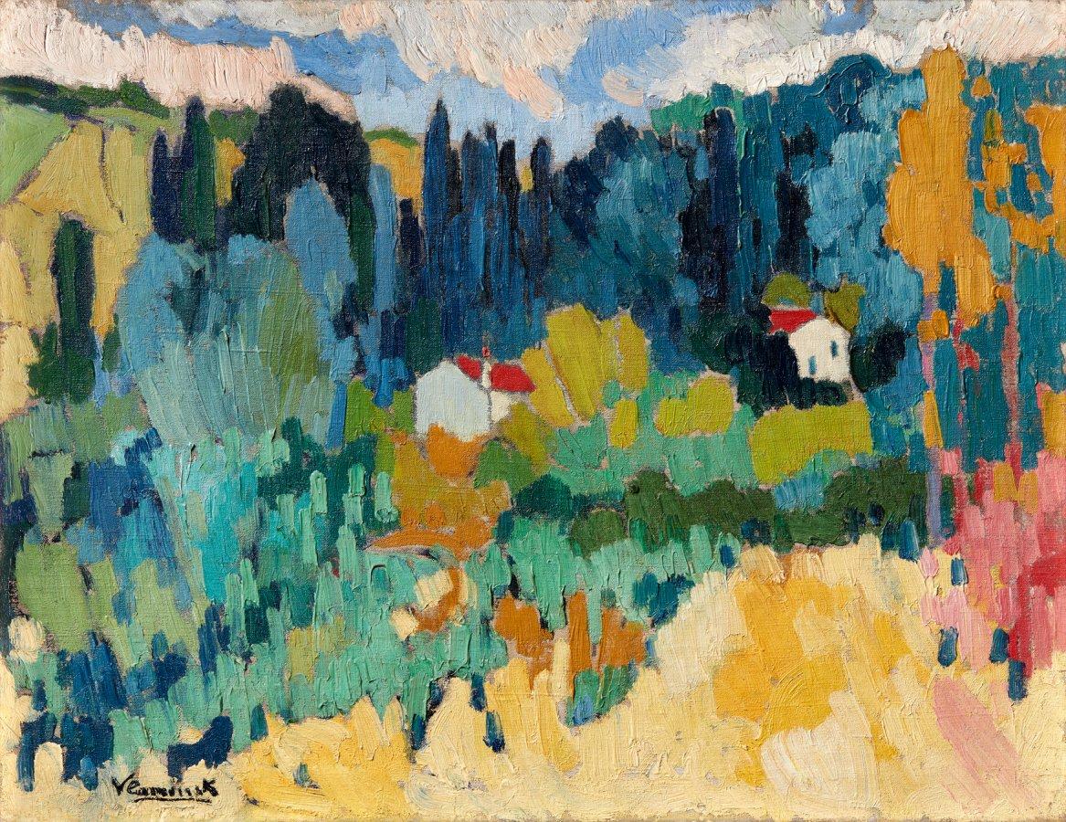 Maurice de Vlaminck, Fauvistische Landschaft bei Chatou, um 1907 © VG Bild-Kunst, Bonn 2018, Foto: Mick Vincenz