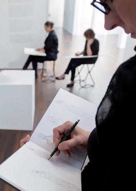 Zeichenkurs mit Franca Perschen © und Foto: Helmut Reinelt