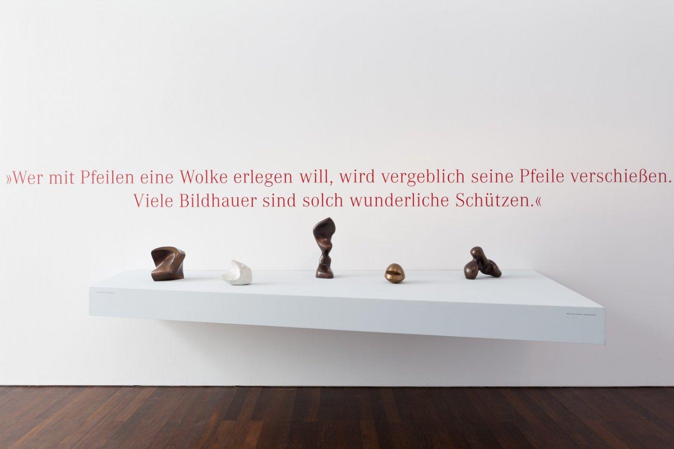 Ausstellungsansicht »Zweiklang«, 2015 © Arp Museum Bahnhof Rolandseck, Foto: Mick Vincenz