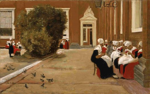 Max Liebermann - Courtyard of the Orphanage in Amsterdam