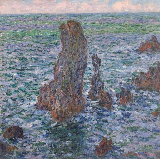 Claude Monet - The Pyramids of Port-Coton