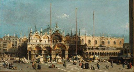 Canaletto - Der Markusplatz in Venedig
