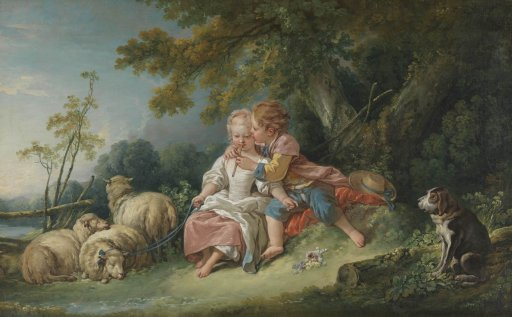 François Boucher - Die Flötenlektion