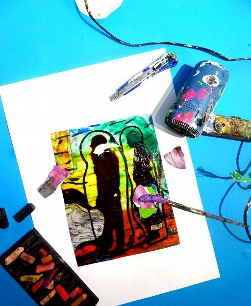 »Mischtechnik–Collage trifft Malerei und Zeichnung« mit Stefanie Manhillen