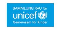 Logo Sammlung Rau für UNICEF blau